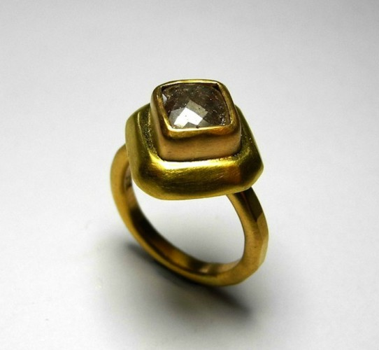 22ct gold and grey diamond_commission
