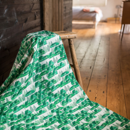Greenland Green Fabric by B Goods at TheMakerPlace.co.uk £75 metre