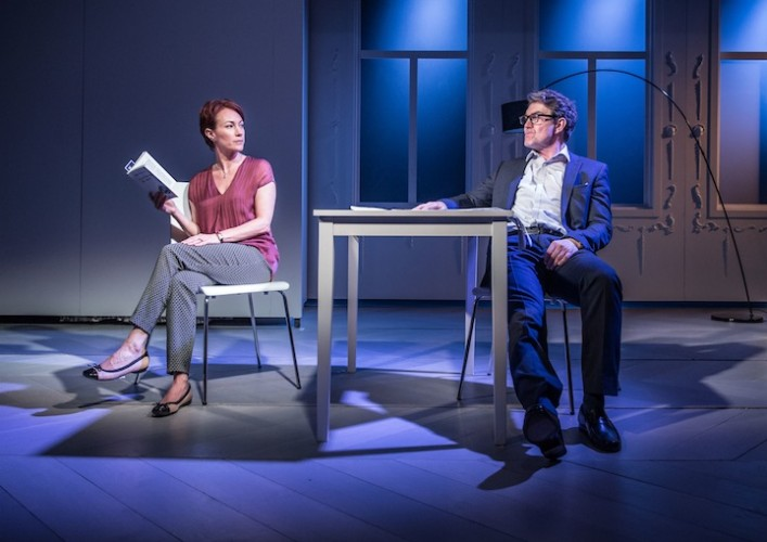 The Truth -Tayna Franks as Laurence and Alexander Hanson as Michel - Photo credit Marc Brenner