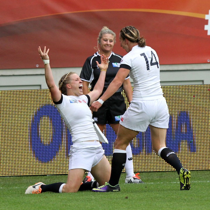 WRWC England v Canada, World Cup Final at Stade Jean Bouin, Avenue du GÈnÈral Sarrail, Paris, France, on 17th August 2014