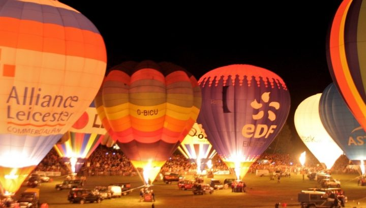night glow nightglow hot air balloons at night