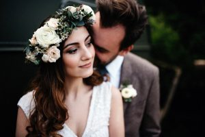 Bride with floral headdress