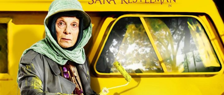 Yellow van with old woman Alan Bennett