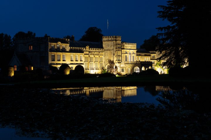 Forde Abbey at night