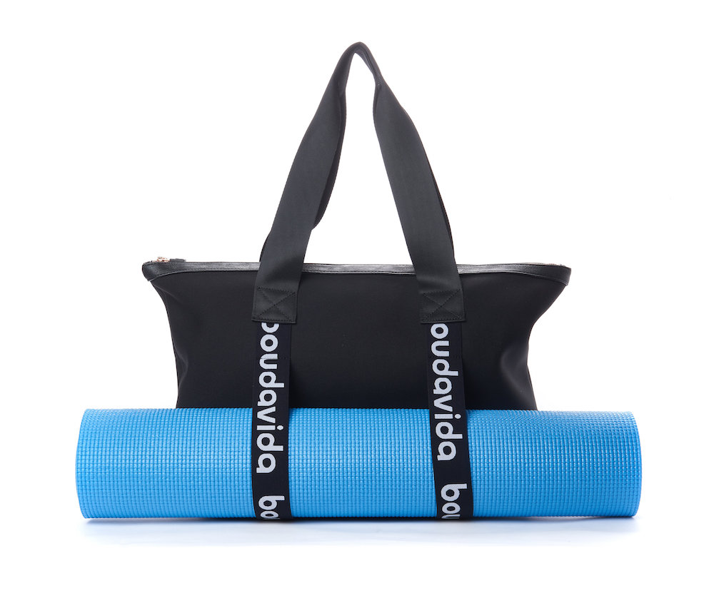 boudavida gym bag with yoga mat
