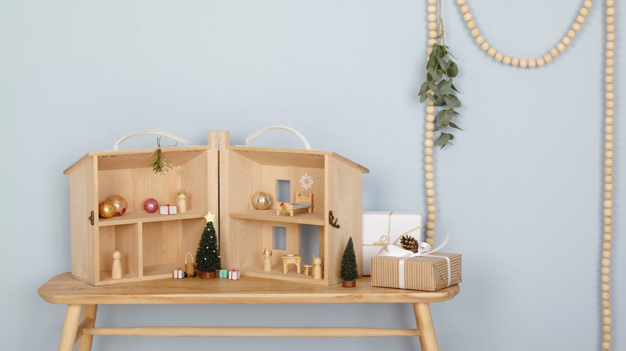 folding wooden dolls house