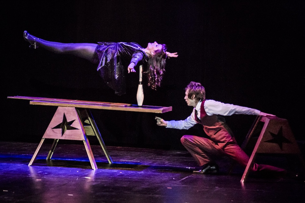 levitating woman magician
