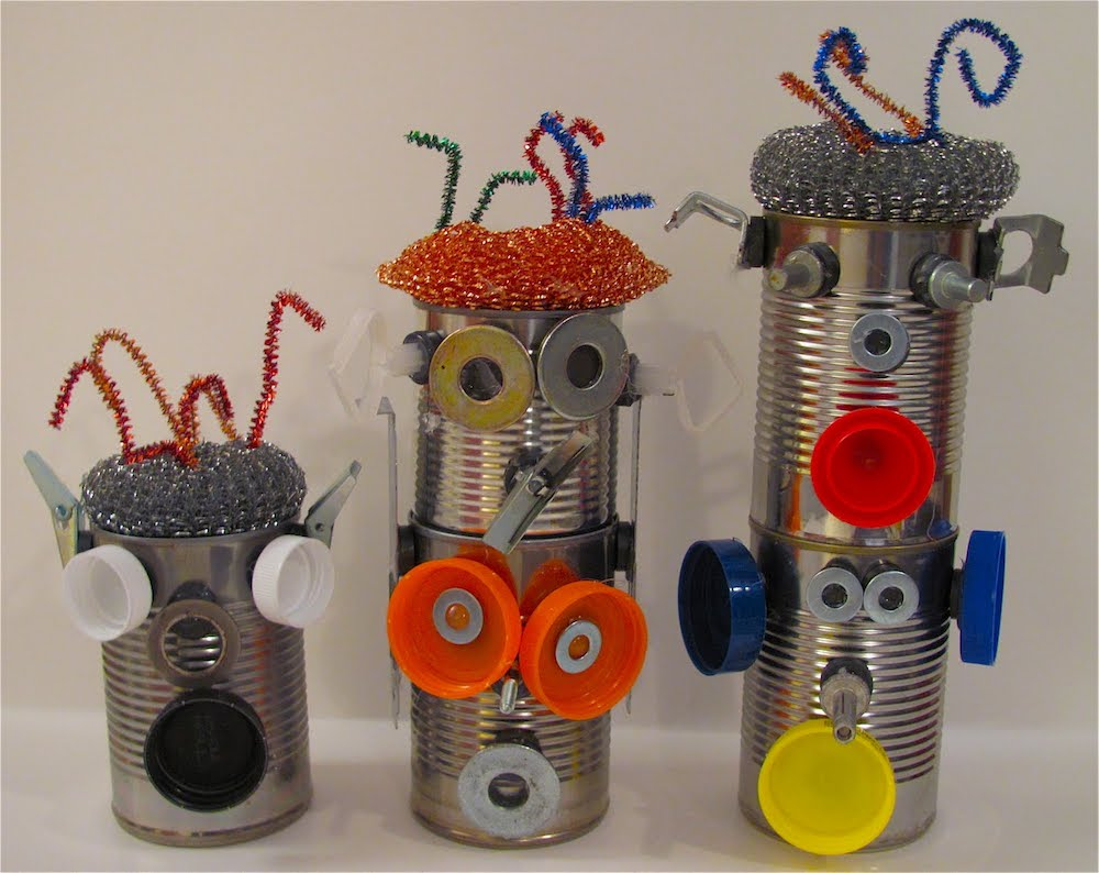 recycled upcycled junk modelling metal robots