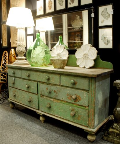 green chest of drawers lamps green glass