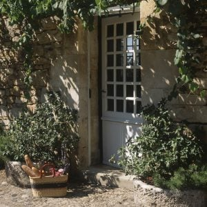 french house door basket fruit veg