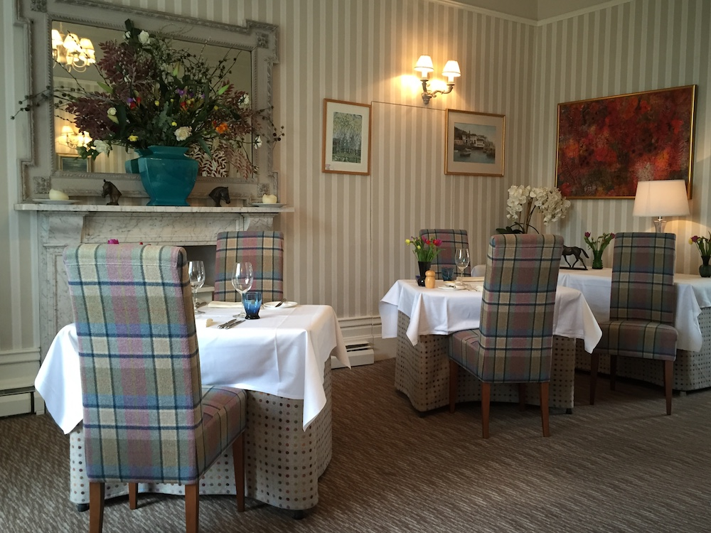 tables and chairs in country house restaurant
