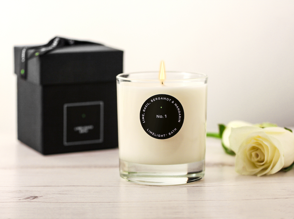 candle with box and rose