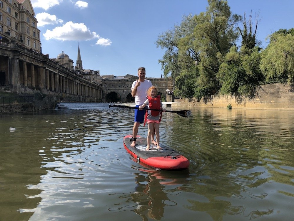 SUP in the city of Bath