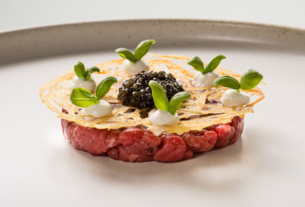 beef tartar olive tree bath