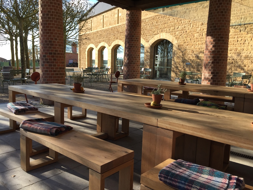 wooden benches at the newt